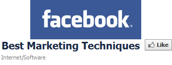 best marketing techniques facebook like