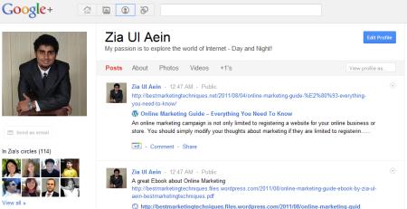 Zia Ul Aein Google Plus Profile